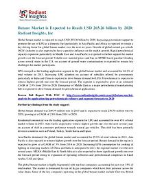 Butane Market is Expected to Reach USD 203.26 Billion by 2020