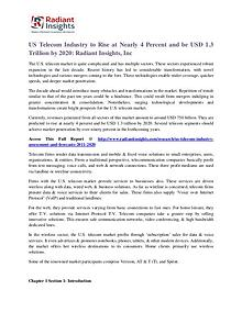 US Telecom Industry to Rise at Nearly 4 Percent and Be USD 1.3