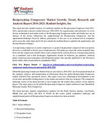 Reciprocating Compressor Market Growth, Trend, Research 2021