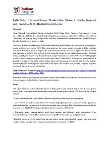 India Solar Thermal Power Market Size, Share, Growth, Forecast 2030