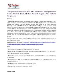 Mucopolysaccharidosis VI (MPS VI) (Maroteaux-Lamy Syndrome )Clinical