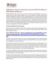 Defibrillators Market is Expected to Exceed USD 15.75 Billion by 2020