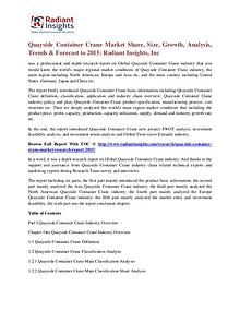 Quayside Container Crane Market Share, Size, Growth, Analysis 2015