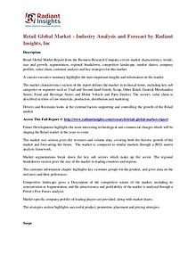 Retail Global Market - Industry Analysis and Forecast