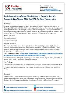 Training and Simulation Market Share, Growth, Trends, Forecast 2024