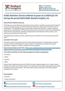 Public Relations Services Market to Grow at a CAGR of 6.7%