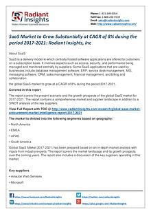 SaaS Market to Grow Substantially at CAGR of 8% During  Period 2021