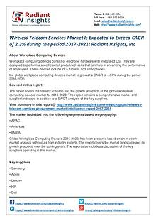 Wireless Telecom Services Market is Expected to Exceed CAGR of 2.3%