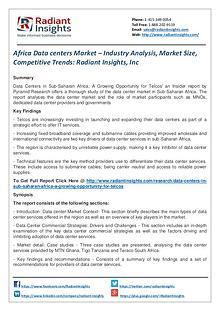 Africa Data Centers Market – Industry Analysis, Market Size