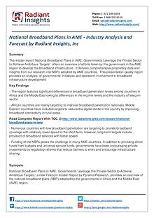 National Broadband Plans in AME - Industry Analysis and Forecast