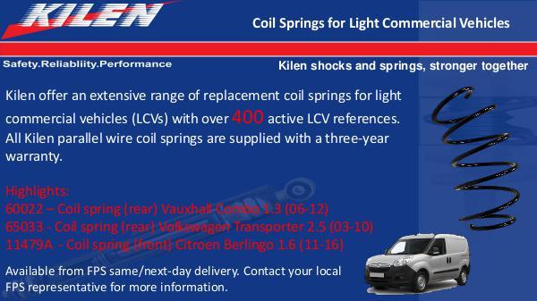 Kilen Coil Springs for LCVs