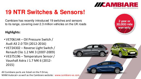 FDrive Cambiare NTR switches & sensors