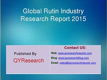 Rutin Industry 2015 Market Survey Study Analysis and Overview Rutin Industry 2015 Industry Trend, Size, Share, Growth and Forecast