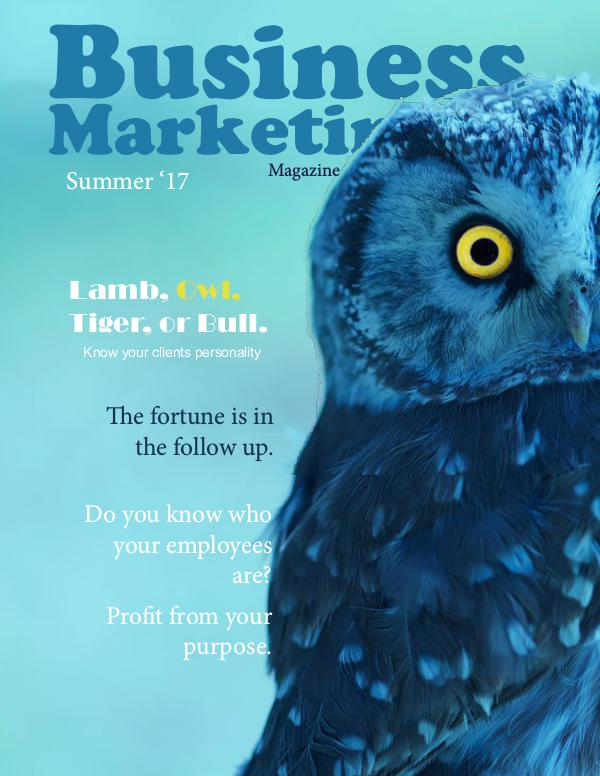 Business Marketing Magazine Summer 2017 Summer2017