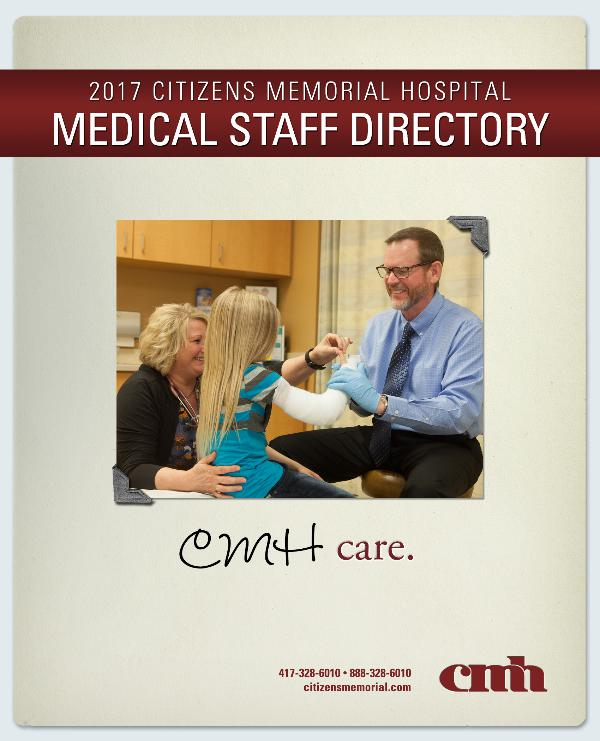 Citizens Memorial Hospital Medical Staff Directory 2017