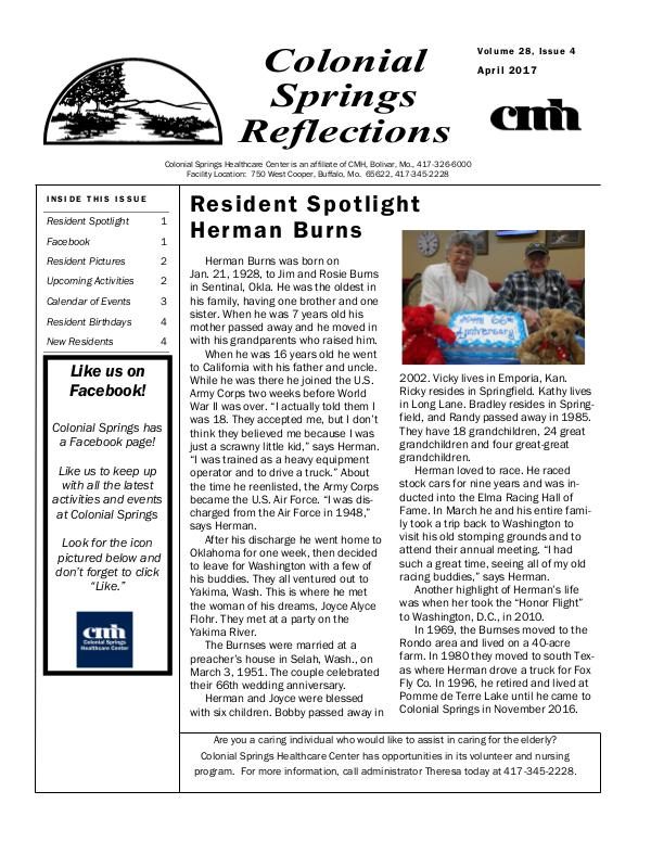 Colonial Springs Reflections April 2017