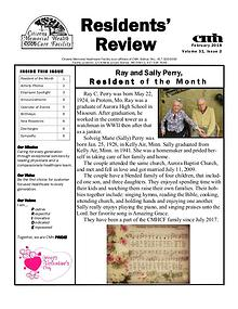 CMHCF Residents' Review