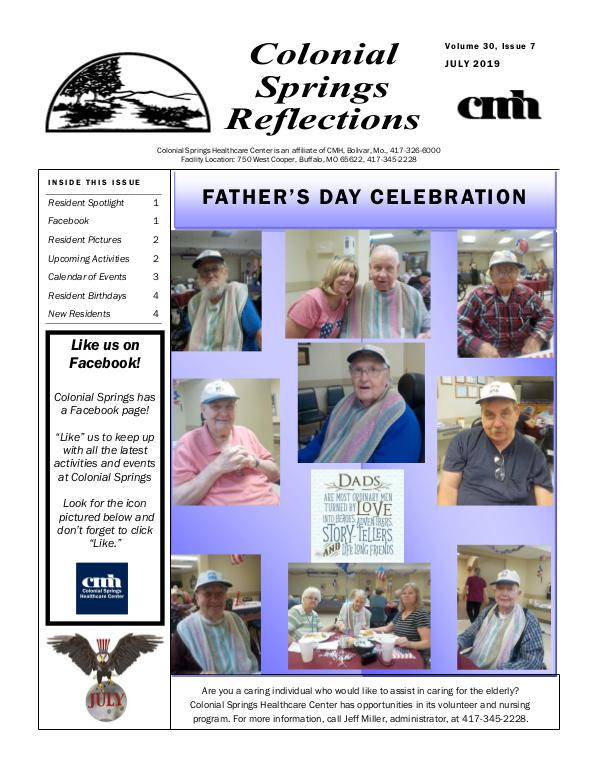Colonial Springs Reflections July 2019