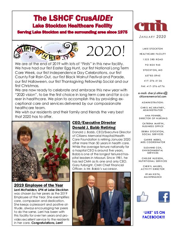 Lake Stockton Healthcare Facility eNewsletter January 2020