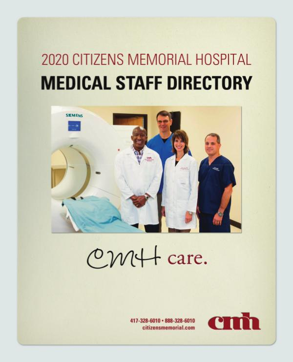 Citizens Memorial Hospital Medical Staff Directory 2020