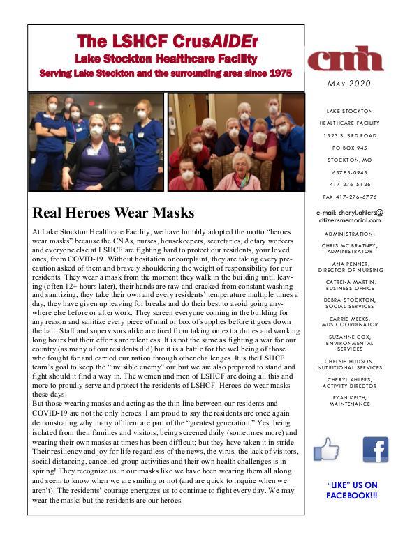 Lake Stockton Healthcare Facility eNewsletter May 2020