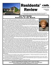 CMHCF Resident's Review