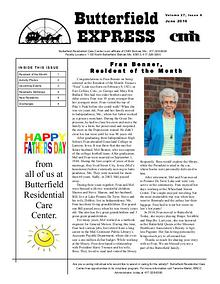 Butterfield Residential Care Center's Butterfield Express