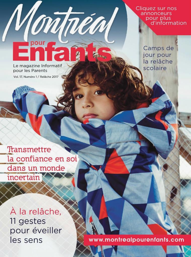 Montréal pour Enfants vol. 17 n°1   La relâche scolaire 2017