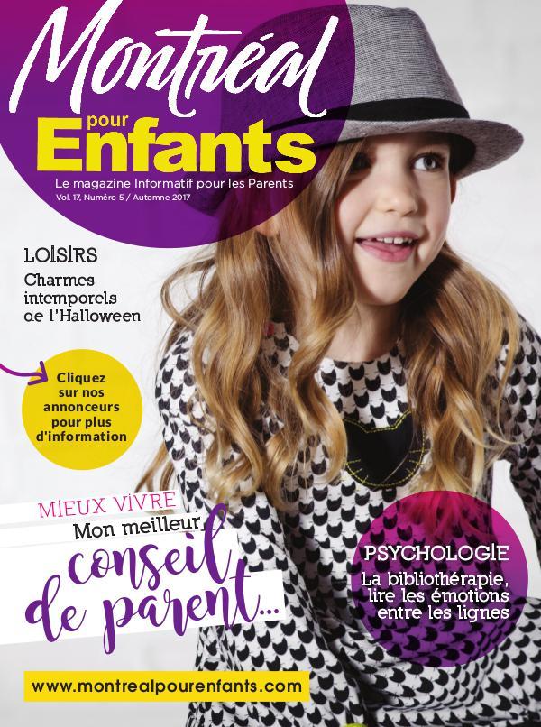 Montréal pour Enfants vol. 17 n°5 Automne 2017