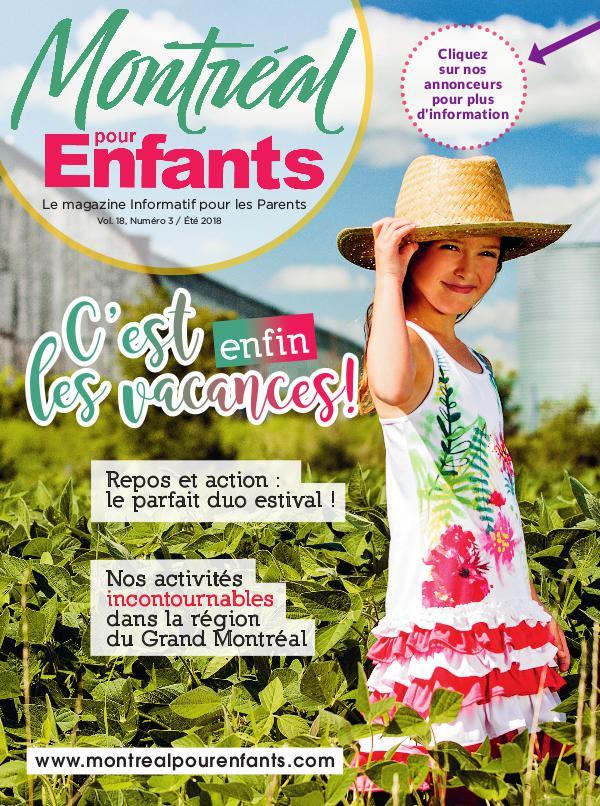 Montréal pour Enfants vol. 18 n°3 Été 2018
