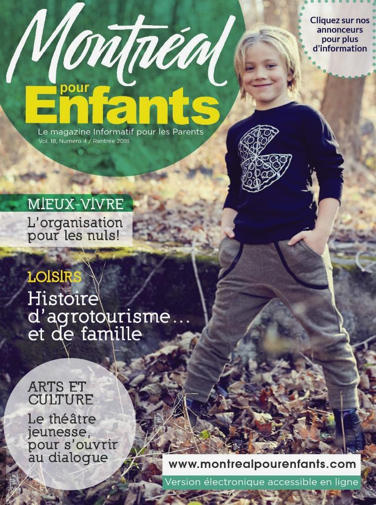 Montréal pour Enfants vol. 18 n°4 La rentrée 2018