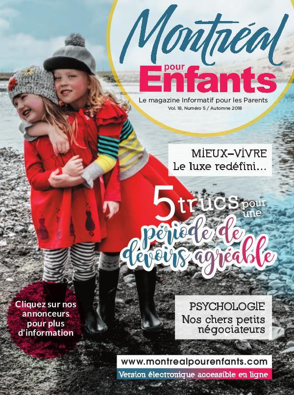 Montréal pour Enfants vol. 18 n°5 Automne 2018