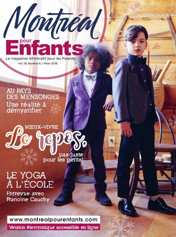Montréal pour Enfants vol. 18 n°6 Hiver 2018