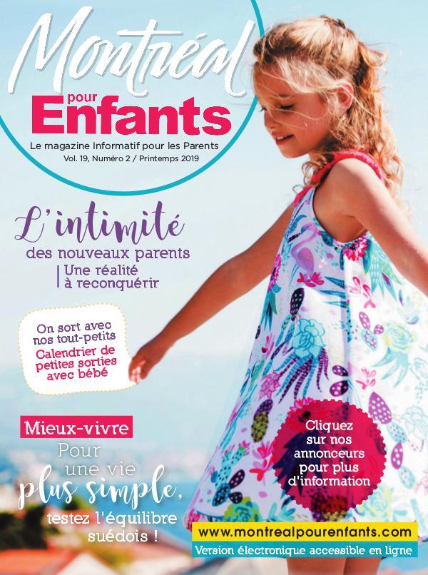 Montréal pour Enfants vol. 19 n°2 Printemps 2019