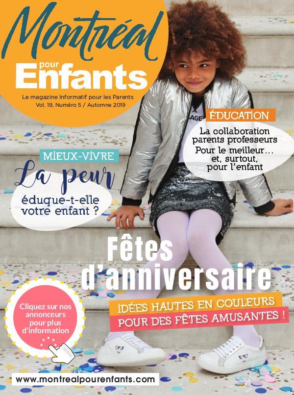 Montréal pour Enfants vol. 19 n°5 Automne 2019