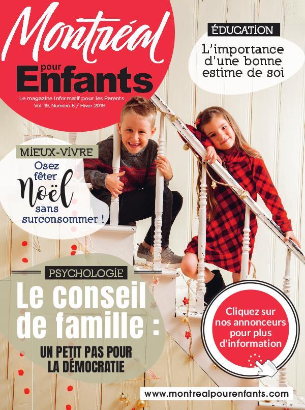 Montréal pour Enfants vol. 19 n°6 Hiver 2019