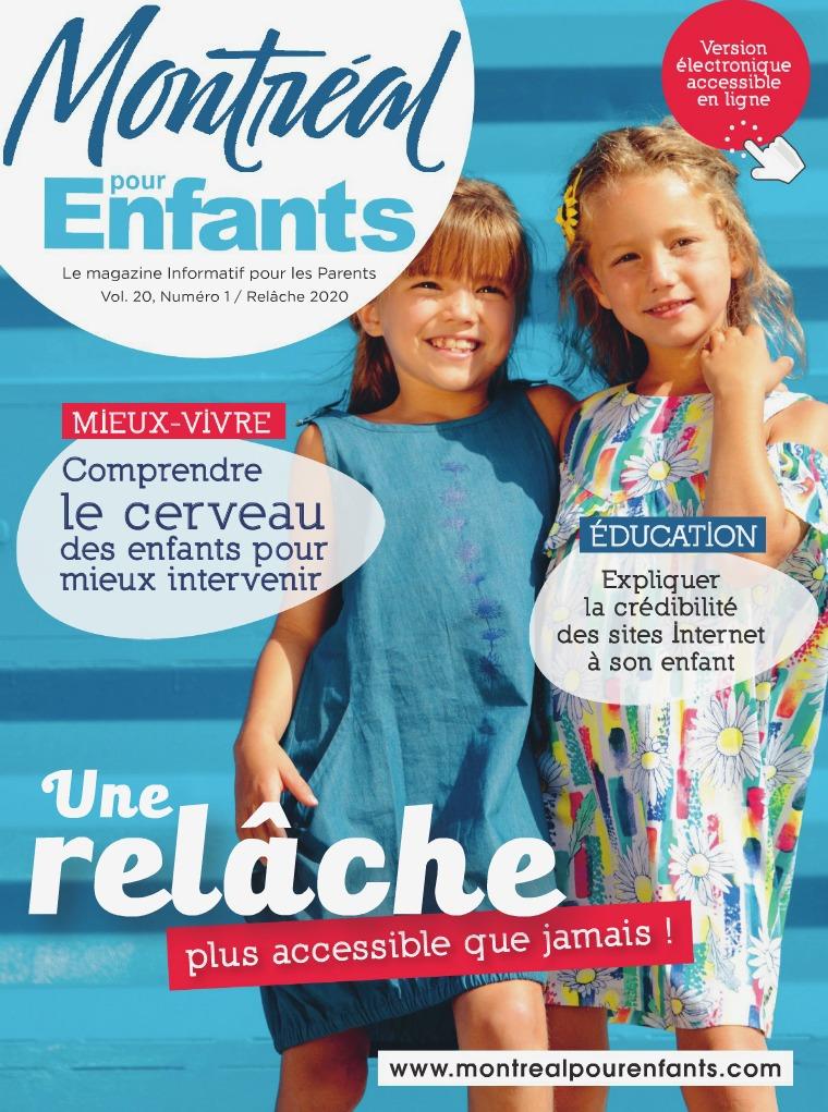 Montréal pour Enfants vol. 20 n°1 La relâche scolaire 2020