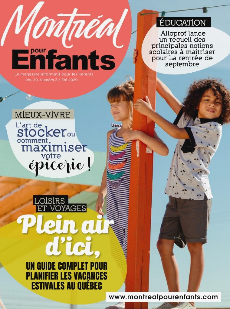 Été 2020 vol. 20 n°3  Été  /  Vacances en Famille