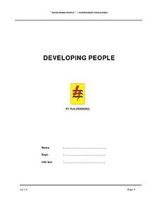Manual Peserta - Developing People
