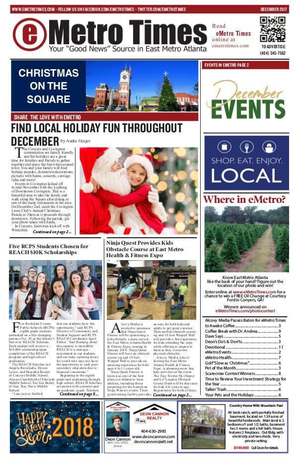 eMetro Times December 2017 2017V12
