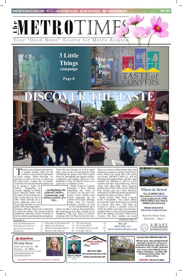 The Metro Times Atlanta May 2018