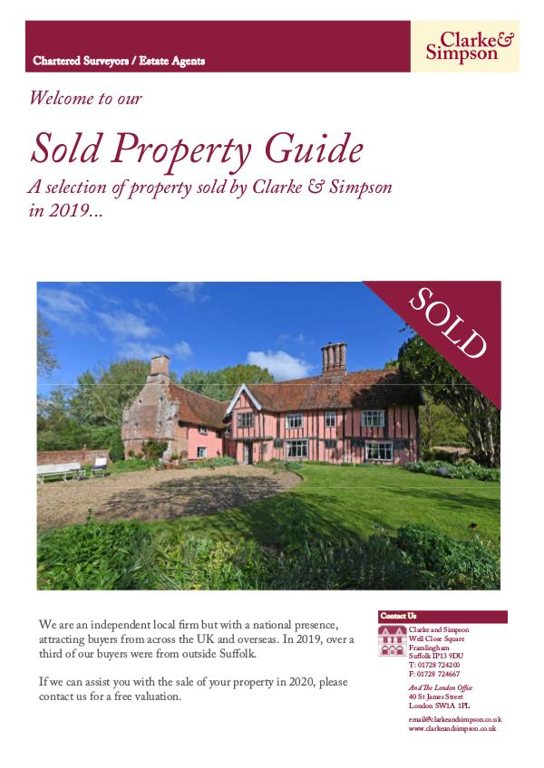 Sold Property Guide 2019 Sold Property Guide 2019