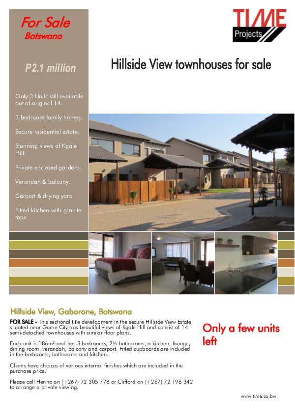 Time Projects Letting / Selling Brochure October