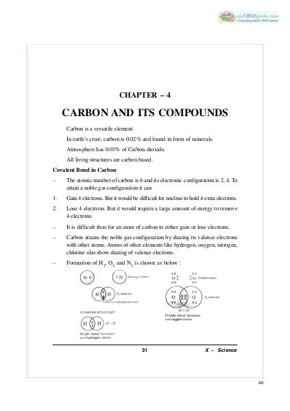 chapter 4 carbon and its compound dec 2015