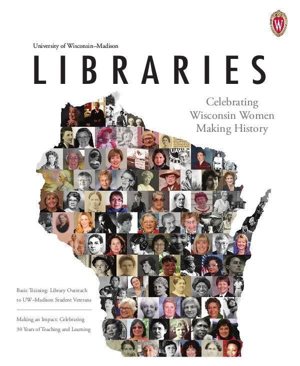 University of Wisconsin-Madison Libraries Magazine Spring 2019 UW-Madison Libraries