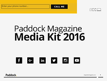 Paddock magazine 2016 media kit