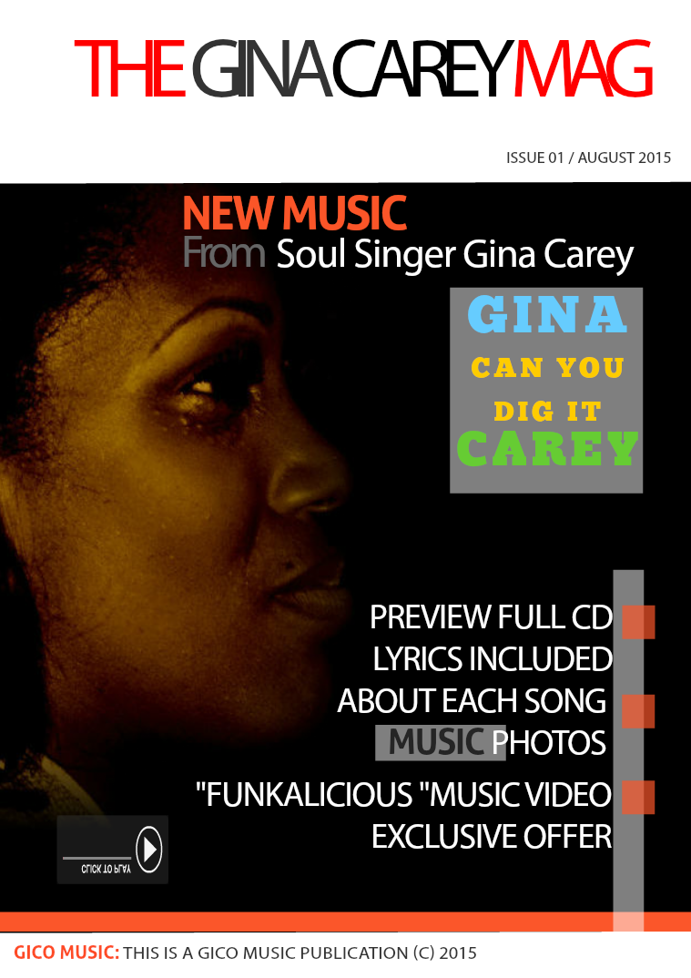 """Gina Carey Announces New Album 'Can You Dig It' Following """"Gimme the August 2015 Issue """" Can You Dig It""""?"""