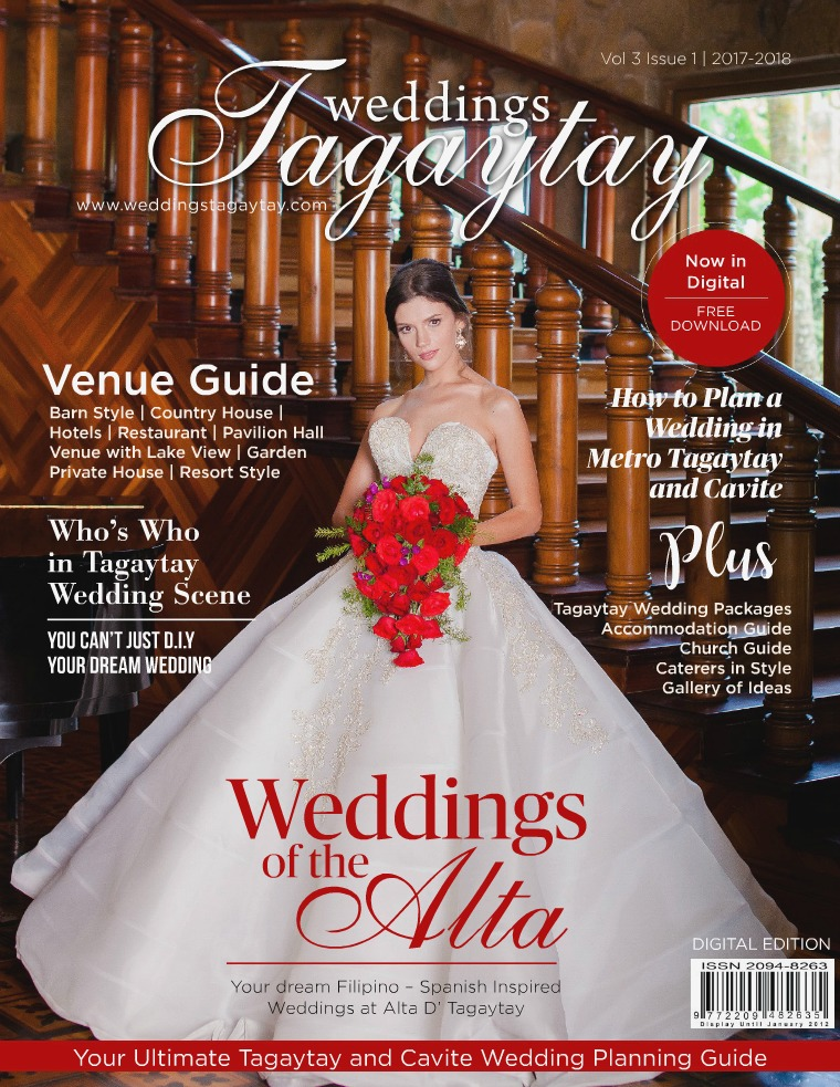 Weddings Tagaytay Magazine Vol. 3 Issue 1 (July 2017-2019)