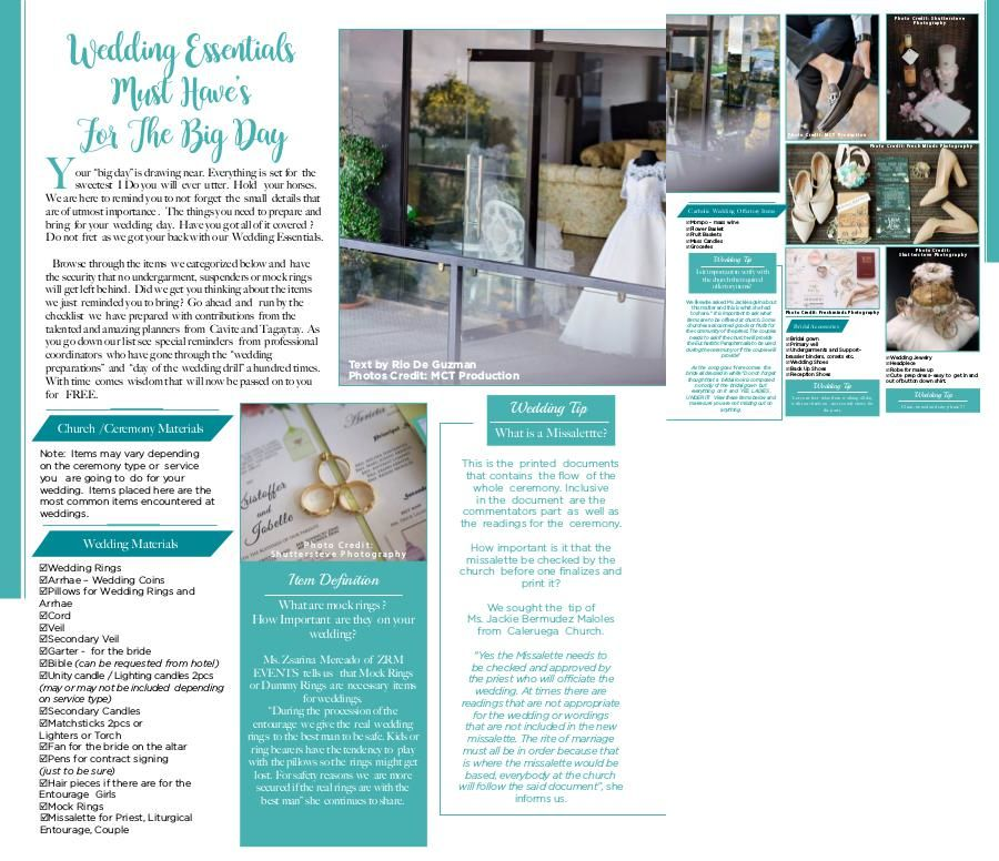 Weddings Tagaytay Magazine Vol  3 Issue 1 (July 2017-2019