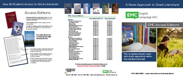 Little Rock School District ELA Mirrors and Windows Access Editions Brochure W